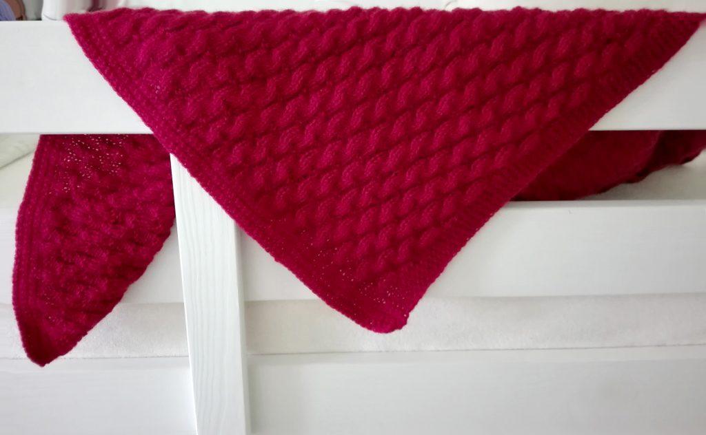 Návod na pletení baby deky.