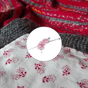Ručně pletená baby deka s příběhem a bavlněnou podšívkou.