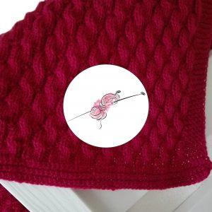 Návod na pletení baby deky pro Terezku.